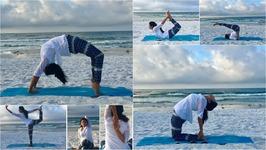 Yoga Asana On The Beach- Destin, Florida
