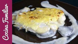 Receta para hacer pastel de pollo gratinado con queso paso a paso