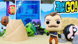 Teen Titans Go Spooky Hello Neighbor Mystery With Funko Pop Surprises