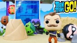 Teen Titans Go Spooky Hello Neighbor Mystery With Funko Pop Surprises
