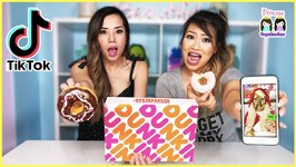 TikTok Master Prank Us To Make DIY Donuts - We Failed - She HACKS our TIK TOK