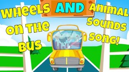 The Animals on the Bus - A Wheels on the Bus and Animal Sounds Song Mashup for Kids