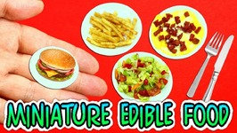 How To Make Real DIY Edible Miniature Food For Dolls