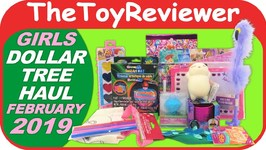 February 2019 Girls Dollar Tree Haul 1 Stickers Pen Slinky Unboxing Toy  Review
