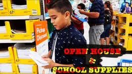SCHOOL SUPPLY HUNTING and BACK TO SCHOOL OPEN HOUSE
