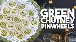 Green Chutney Pinwheels - Appetizer, Canape