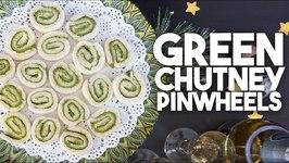 Green Chutney Pinwheels - Appetizer, Canape