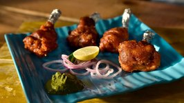 Desi Chicken Lollipop / Easy To Make Dhaba Style Chicken Lollipop