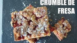 Crumble De Fresa, Receta Grabada Con Una Gopro