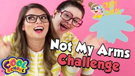 Arts and Crafts with Crafty Carol - Not My Arms Challenge - Cartoon Stories for Kids - DIY for Kids