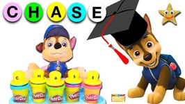 PAW PATROL SCHOOL GAME with Chase- Play-Doh Letters - LEARN ABCs- Spelling- Colors and Toys