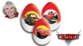 Unwrapping 5 Disney Pixar Cars 2 Chocolate Surprise Eggs