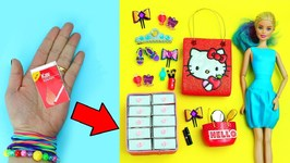 10 AMAZING  BARBIE HACKS - 14 - Easy doll crafts in 5 minutes or less