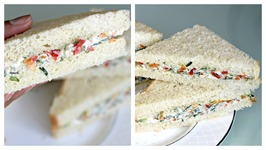 No Cook Cream Cheese Sandwich - Easy Breakfast/ Tiffin/ Snack