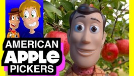 Toy Story 4 American Apple Pickers - Orchard Picking With Woody - Adventure Time Outside Fun