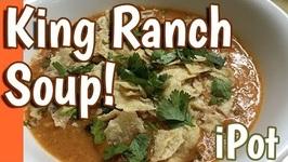 King Ranch Soy Curls Soup - Instant Pot