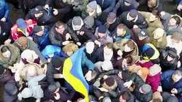 Drone Footage Shows Saakashvili Supporters Freeing Him From Van After Arrest