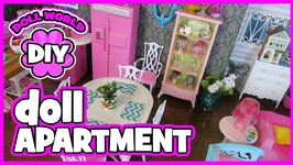 How to Make a Doll Apartment Set with Barbie Doll Furniture