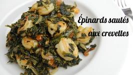 Recette Épinards Sautés Aux Crevettes