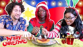 Non-Filipinos Try Filipino Christmas Food For The First Time