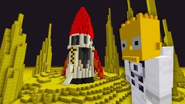 Bart Simpson Trip To The Moon  The Simpsons   Minecraft Xbox 57
