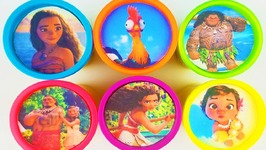 Play Doh Disney Princess Moana Ariel Belle Learn Colors Surprise Eggs