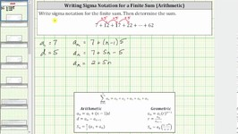 Write A Given Finite Arithmetic Series Using Sigma Summation Notation - d pos