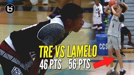 Gets Heated Lamelo Ball 56 Points Vs Tre Gray 46 Points At Adidas Summer Championship