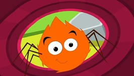 Incy Wincy Spider Nursery Rhyme - Itsy Bitsy Spider Kids Song - Orange Spider