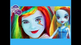 My Little Pony Rainbow Dash Makeup Tutorial - Equestria Girl Doll Cosplay