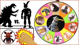 Shin GODZILLA Vs Five Nights At Freddy's GAME  Surprise Godzilla   FNAF Toys  Slime Wheel Games