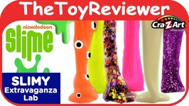 Nickelodeon Slime Cra-Z-Slimy Extravaganza Lab Cra-Z-Art DIY Unboxing Toy Review
