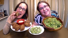 Lebanese Food- Tabouleh Salad Kibbeh And Tahini Sauce/Gay Family Mukbang- Eating Show
