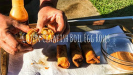 Cajun Crawfish Boil Egg Rolls