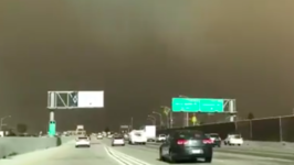Thick, Dark Smoke From Creek Fire Near Los Angeles Fills Sky