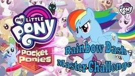 My Little Pony Pocket Pony GAMES - Rainbow Dash Master Challenge and 2 New MLP Ponies
