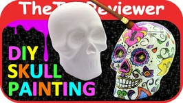 DIY Sugar Scull Craft Painting Halloween Day Of The Dead Color Unboxing Toy Review