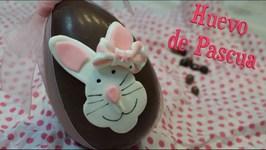 Huevo De Pascua / Conejo De Fondant / Como Hacer Huevo De Pascua / Huevos De Pascua