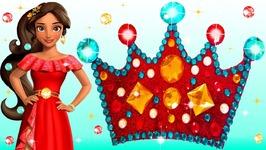 Play Doh Making Colorful Sparkle Princess Crown Elena of Avalor Glitter Disney Princess Dresses