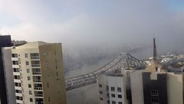 Heavy Mist Travels Slowly Over Brisbane