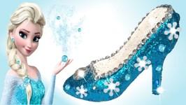 0aeaa73c2cb Play Doh Sparkle Disney Princess Shoes High Heels Frozen Elsa Super Glitter  Dresses Modelling Clay
