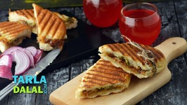 Caramelized Onions And Cheese Panini