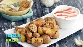 Herbed Baby Potatoes With Garlic Mayo Dip