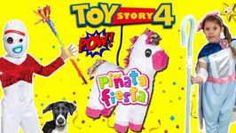 Toy Story 4 FORKYS BIRTHDAY PARTY w/ Piñata Fiesta NEW Surprise Toys Game