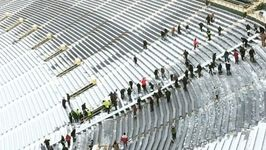 Workers Clear Lambeau Field of Snow Ahead of Final Home Game