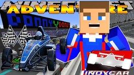 Minecraft - Little Donny Adventures - INDYCAR RACE w/ DONUT THE DOG