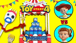 Forky's TOY STORY 4 Mashems Carnival Game  Jessie vs Gabby Gabby  Win Surprise Toys