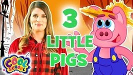 The Three Little Pigs - Chapter 1 - Brand New Story Time with Ms. Booksy - Cartoons for Kids