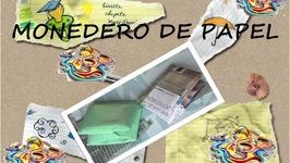 MANUALIDAD MONEDERO DE PAPEL