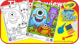 Mcdonalds american greetings happy meal coloring page monster mcdonalds american greetings happy meal colo m4hsunfo
